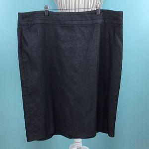 Dresses & Skirts - Ashley Stewart 18W denim skirt NWOT 😍